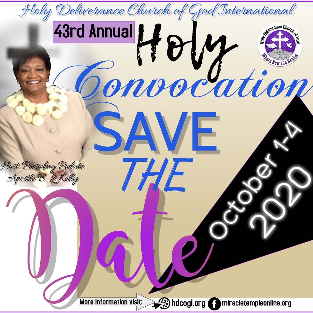 HDCOGI presents the 43rd Annual Holy Convocation